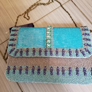 Gorgeous beaded,  sequined bag adorned with stones